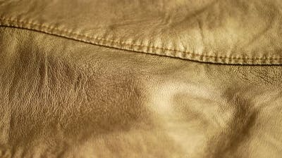 Golden Yellow Synthetic Leather Jacket