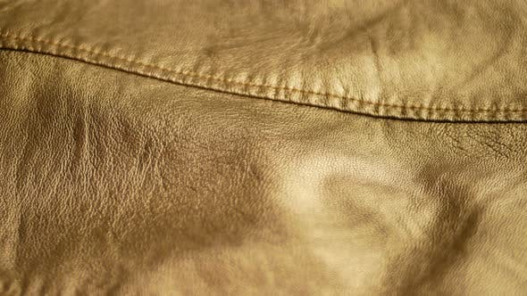 Golden Yellow Synthetic Leather Jacket