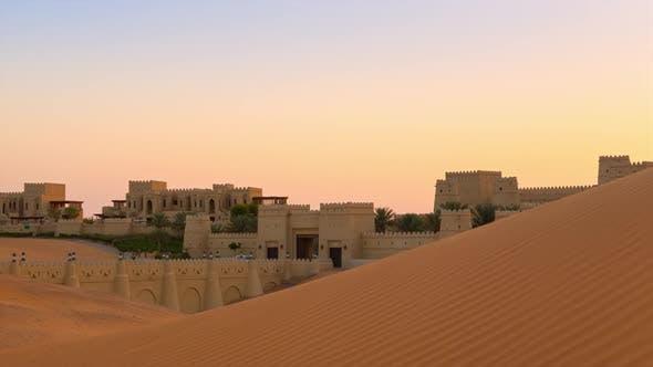 Thumbnail for Oasis in desert