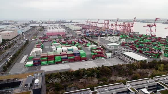 Container Terminal Freight Transportation Tokyo