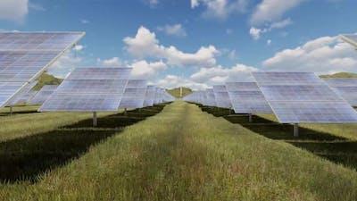 Passing Through Solar Panels 4 K