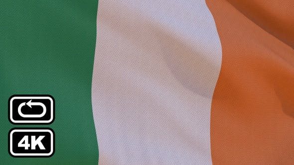 Thumbnail for Ireland Flag 4K Seamless Loop