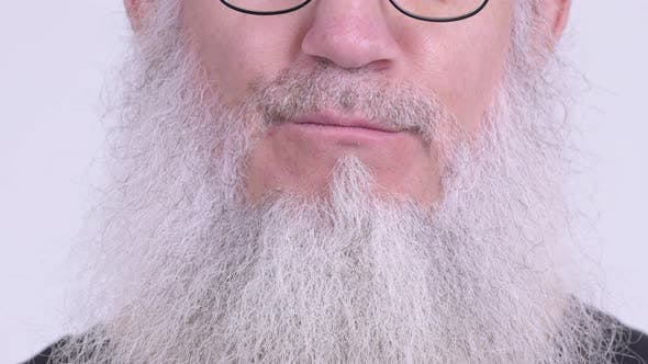 Thumbnail for Smile of Happy Mature Bearded Man with Eyeglasses