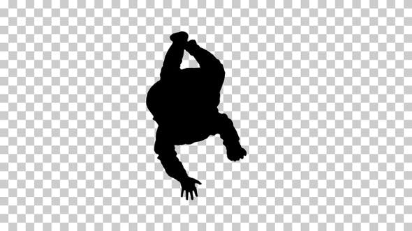 Thumbnail for Silhouette Baby laying and holding his head, Alpha Channel