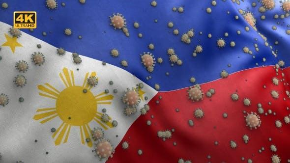 Thumbnail for Covid Philippines Flag / Corona Philippines Flag- 4K