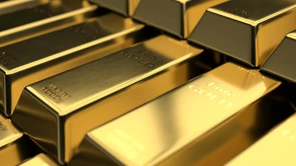Thumbnail for Close-up View of Fine Gold Bars