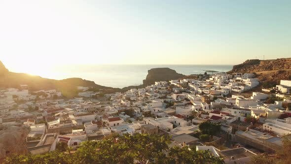 Thumbnail for Revealing Shot of the Small Village in Rhodes, Greece