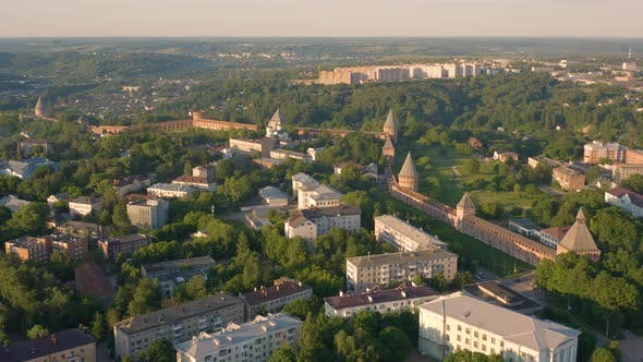 Aerial View of Smolensk Fortress Wall