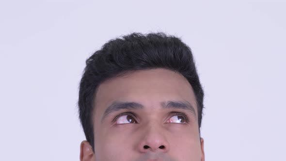 Thumbnail for Eyes of Young Indian Man Thinking