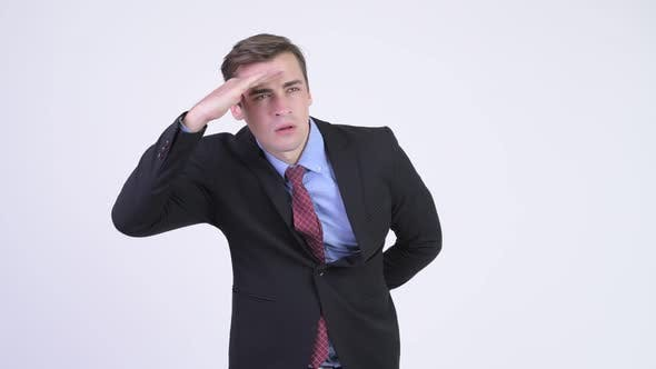 Thumbnail for Young Handsome Businessman Searching Something