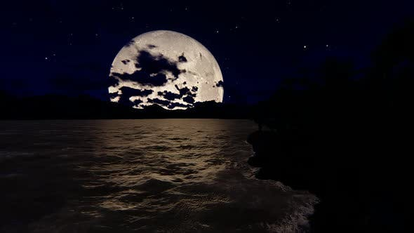 Cover Image for Full Moon on the beach