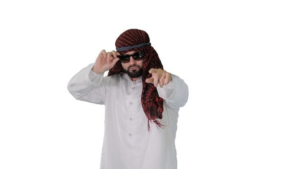 Thumbnail for Handsome Arabian Sheikh in Sunglasses Does Some Cool Dancing