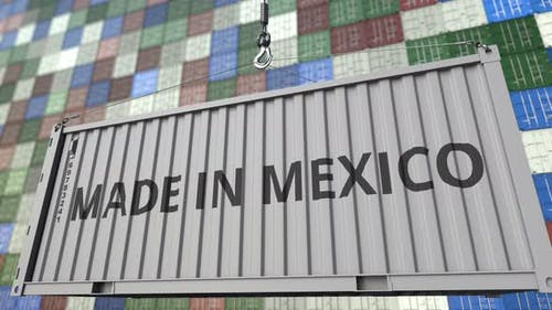 Container with MADE IN MEXICO Caption