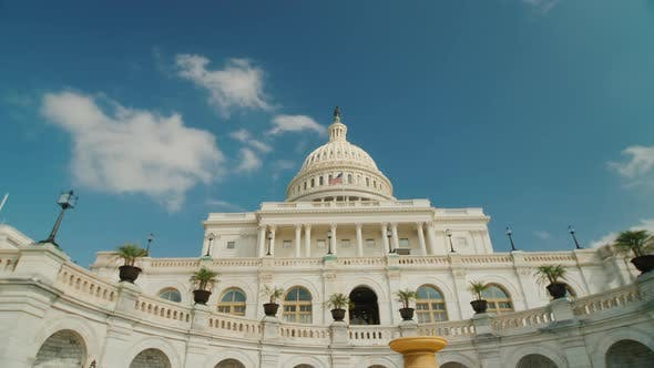 Thumbnail for Wide Shot of Capitol Building in Washington, DC