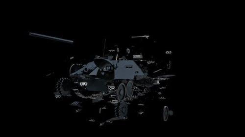 Modern Military Tank Transforming