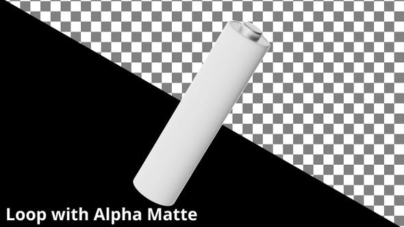Thumbnail for Floating AAA Battery on Black with Alpha Matte