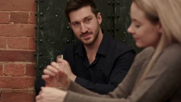 Thumbnail for Handsome Man Try To Become Acquainted with Attractive Blonde Woman in the Bar