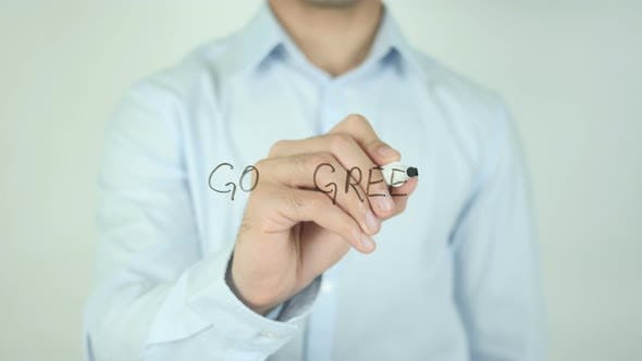 Thumbnail for Go Green, Writing On Screen