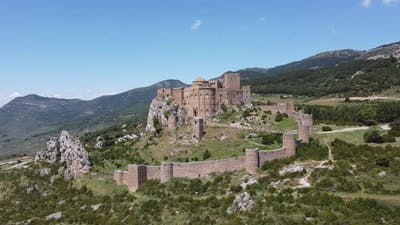 Aerial View Of Loarre Castle In Spain