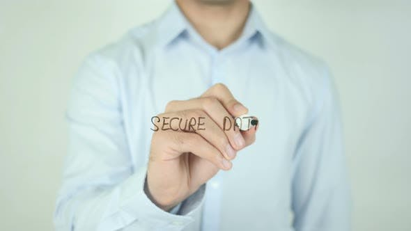 Thumbnail for Secure Data, Writing On Screen