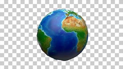 Earth Globe Rotate - 4K Resolution