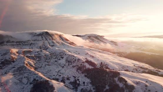 Thumbnail for Beautiful Mountain Sunset Winter Mountain Landscape