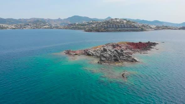 Thumbnail for Uninhabited Virgin Island Created By Volcanic Activity. Wild Little Gull House.