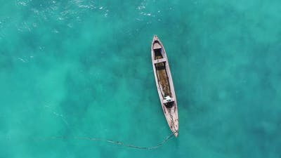 Fishing boats off the coast of Africa in the Indian Ocean