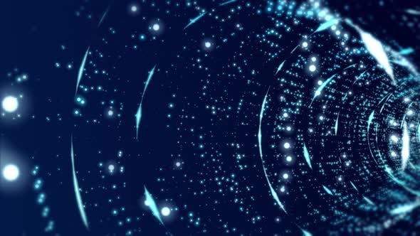 4K Blue Digital Background Seamless Loop