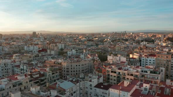 Cover Image for Aerial View. Epic Valencia, Spain, Entire City.