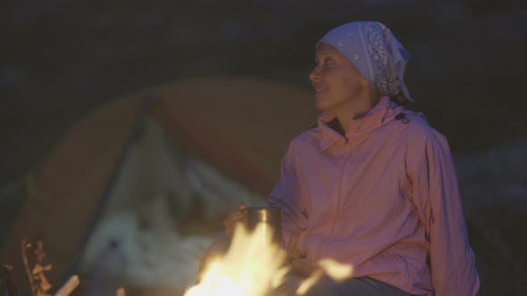 Thumbnail for Woman Backpacker Hiking in Mountains 026