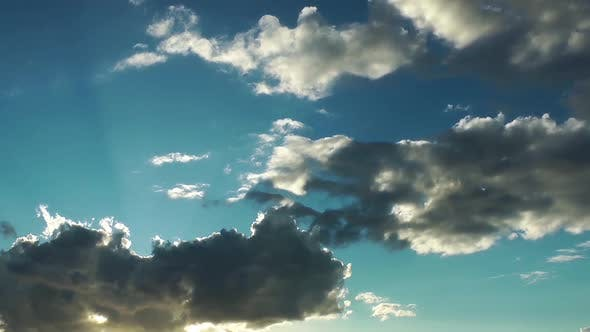 Thumbnail for Sky Sun Clouds Dark Rain Time Lapse