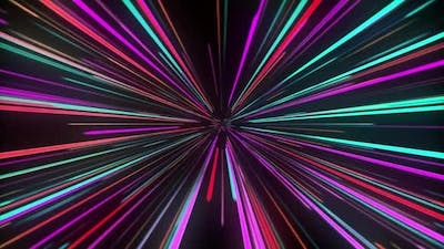 Colorful Light Speed Tunnel