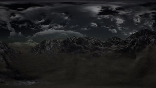 Thumbnail for VR 360 Huge Dark Clouds Over Scottish Highlands