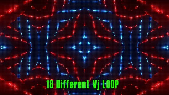Cover Image for 18 Colorfull VJ Led Loop Pack