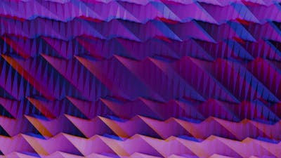Wavy gradient animation in purple and pink colors with anaglyph effect