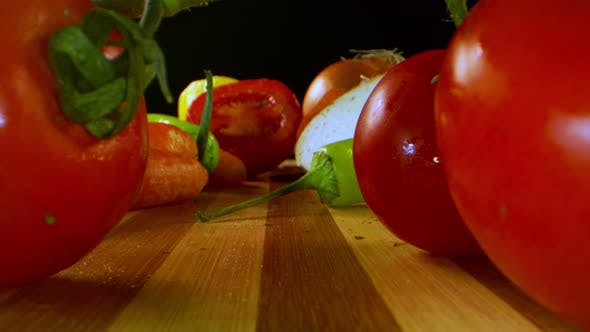 Group Of Vegetable Tomato Carrot And Pepper