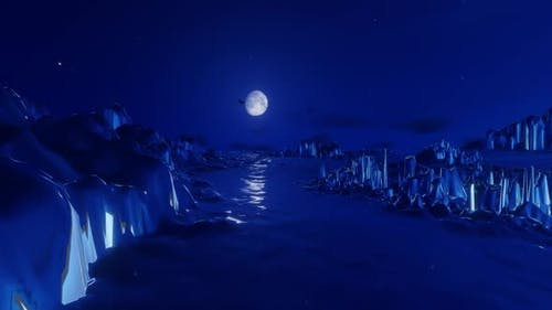 Glaciers At Night