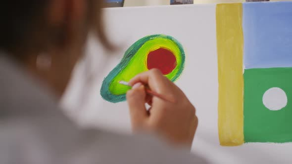 Thumbnail for Painting Avocado On Canvas