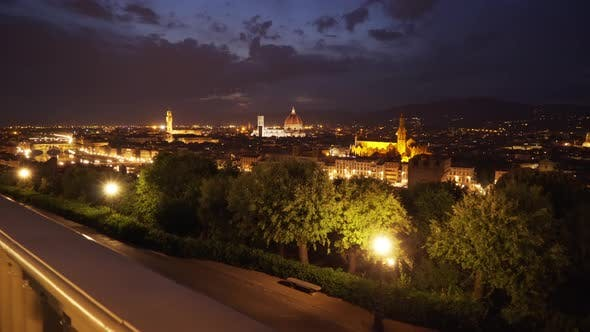 Thumbnail for Beautiful cityscape of antique European city at night