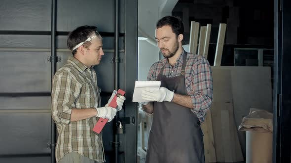 Thumbnail for Two Woodworkers Discussing the Process of Making Wood Products