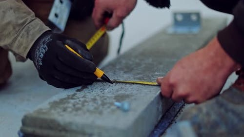 Technician installing solar cell. Installation and maintenance of solar cells