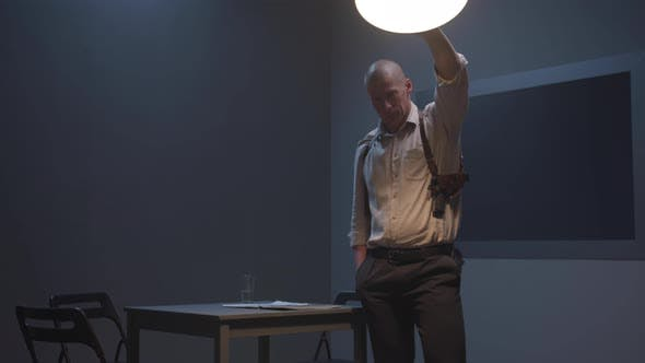 Thumbnail for Agent Straightens the Lamp at the Police Station