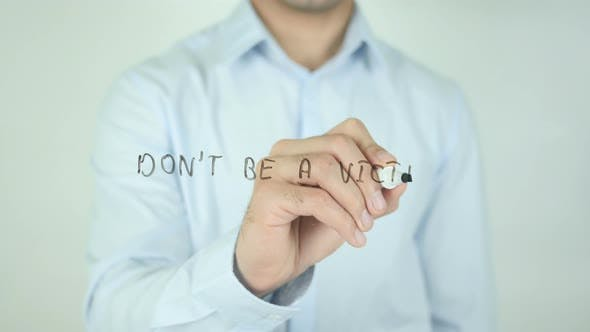Thumbnail for Don't Be a Victim, Writing On Screen