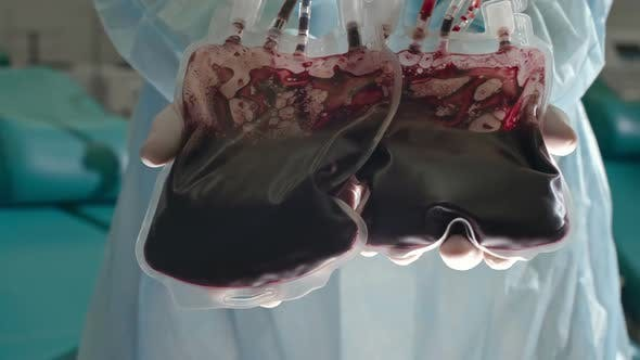 Thumbnail for Bags with Blood of Donors