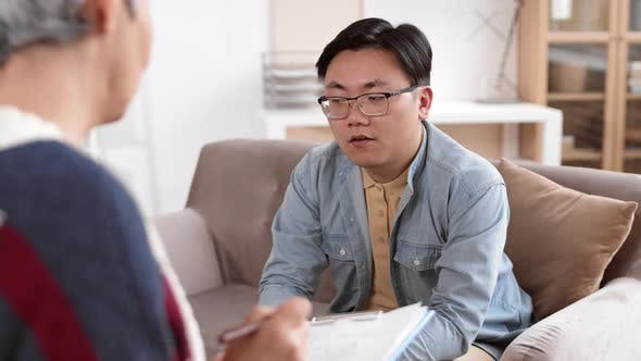 Thumbnail for Asian Guy Talking to Therapist