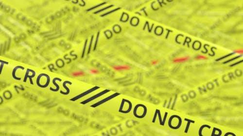Warnbänder mit NICHT KREUZEN UND BIOHAZARD Text