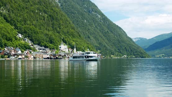 Thumbnail for Hallstatt Traditional Village on the Lake Between Alp Mountains in Austria