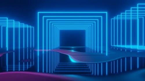 3D Rendern Quadrate Nahtloser Hintergrund Looped Animation