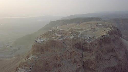 Flying Aroun Masada Remains